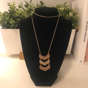 Chevron Long Necklace